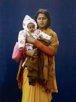 Giles Price for Kumbh Mela Pilgrim - Mamta Dubey and infant