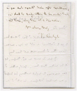 Letter from Thomas Carlyle to G. F. Watts, Little Holland House, 1 July 1868 (GFW/1/11/21) © National Portrait Gallery, London