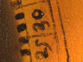 Micro 19. Detail of numbering on dial and fai…