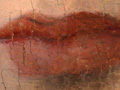 Micro 09. Lips showing underdrawing (7.1 x ma…