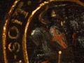 Micro 16. Detail of Garter medal (7.1 x mag).