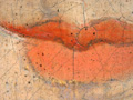 Micro 04. Detail of lips, showing brushwork,…