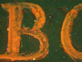 Micro 09. Detail of the inscription, with res…