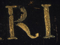 Micro 04. Detail of inscription (7.1 x mag).