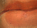 Micro 03. Part of the lips, showing underdraw…