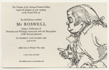 Private View card for Mr Boswell exhibition, 1967
