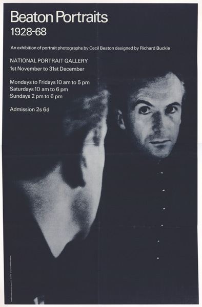 Poster advertising Cecil Beaton Portraits 1928-1968 exhibition, 1968
