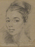 Christine Keeler, drawing by Stephen Ward, 1961,NPG 5720