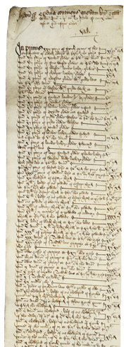 Inventory of the goods of William Gynn, courtesy of the National Archives UK