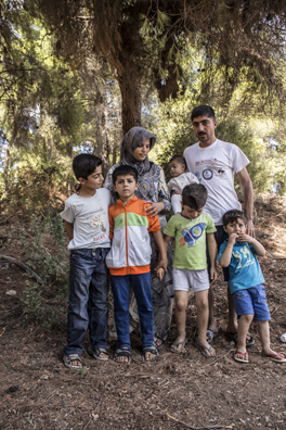 Rima with her husband Mohammed and their children