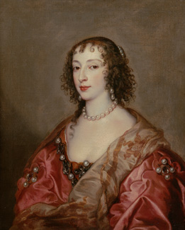 Queen Henrietta Maria by Sir Anthony van Dyck, c1636 © By kind permission of the Chequers Trust with support from the Chiltern Decorative and Fine Art Society