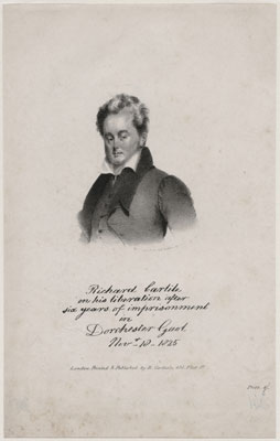 Richard Carlile published by Richard Carlile after an unknown artist, Lithograph, published 1825 or after, NPG D8083 © National Portrait Gallery