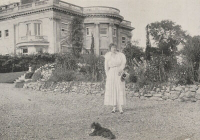 Fig. 3. Baroness Catherine d'Erlanger before Falconwood at Shooter's Hill, Borough of Greenwich by an unknown photographer, 1910s © National Portrait Gallery (Ax105731)