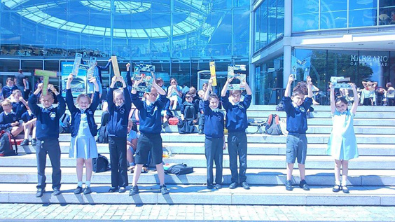 This is Me – Homefield Primary outside The Forum Norwich (photo Tamsin Flower)
