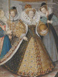 Elizabeth I and the Three Goddesses, attrib. Isaac Oliver, c. 1590. (c) National Portrait Gallery, London, Purchased with the support of Mark Weiss