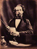 Charles Dickens by (George) Herbert Watkins albumen print, arched top, 29 April 1858, NPG P301(20), © National Portrait Gallery, London