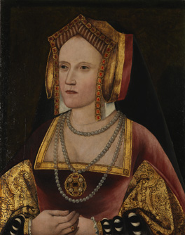 Catherine of Aragon, by an Unknown artist, oil on panel, c. 1520, L246. By permission of the Archbishop of Canterbury and the Church Commissioners.