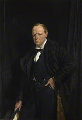 Sir Winston Leonard Spencer Churchill by Sir William Newenham Montague Orpen 1916 NPG L250