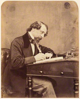 Charles Dickens, by Herbert Watkins, albumen print, arched top, 1858, NPG P301(19), © National Portrait Gallery, London
