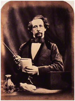 Charles Dickens, by Herbert Watkins, albumen print, arched top, 29 April 1858, NPG P301(20), © National Portrait Gallery, London