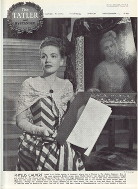 Phyllis Calvert during the filming of 'The Golden Madonna' by Francis Goodman, published 1 December 1948 in The Tatler and Bystander, Private Collection © All Rights Reserved