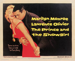 Poster for The Prince and The Showgirl, 1957, courtesy Lloyd Ibert Collection