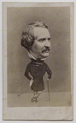 Walter Lacy, by Herbert Watkins, albumen carte-de-visite, 1850s, NPG x137553, © National Portrait Gallery, London