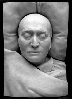 Sir Thomas Lawrence, by Unknown artist, plaster cast of death-mask, 1830, NPG 1634