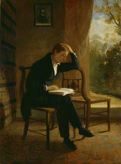 John Keats, by Joseph Severn, oil on canvas, 1821-1823, dated 1821, NPG 58
