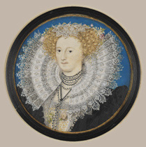 Miniature of Mary Herbert, Countess of Pembroke, by Nicholas Hilliard, circa 1590 (NPG 5994)