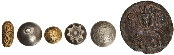 A variety of buttons, courtesy of the Museum of London