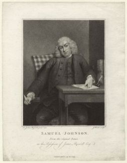 Samuel Johnson by James Heath, published by Charles Dilly after Sir Joshua Reynolds, published 1791, stipple engraving (D34873)