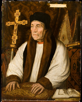 Portrait of William Warham, Lambeth Palace, By kind permission of the Archbishop of  Canterbury and the Church Commissioners