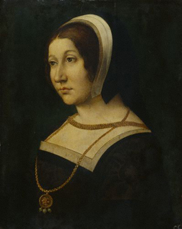 Unknown noblewoman, formerly known as Margaret Tudor (1489-1541) By an unknown French or Flemish artist