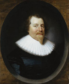Unknown man, formerly known as Richard Weston, 1st Earl of Portland (1577-1635) By Cornelius Johnson (1593-1661)