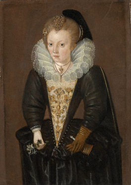 Unknown gentlewoman, possibly Lady Arabella Stuart (1575-1615) By 