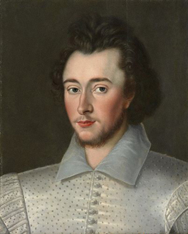 Probably Sir Robert Dudley (1574-1649), formerly known as Sir Thomas Overbury (1581-1613)
