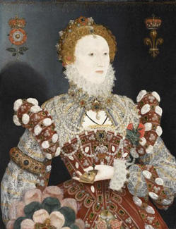 The 'Pelican' portrait of Queen Elizabeth I (1533-1601) associated to Nicholas Hilliard