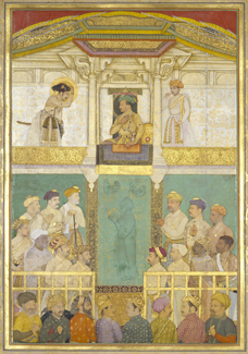 Jahangir receiving Prince Khurram at Ajmer Mughal, attributed to 'Abid, c. 1635   Royal Collection © 2009 Her Majesty Queen Elizabeth II