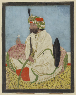 Maharaja Gulab Singh of Jammu and Kashmir, Lahore (detail), c.1845 - © V&A Images/Victoria and Albert Museum, London