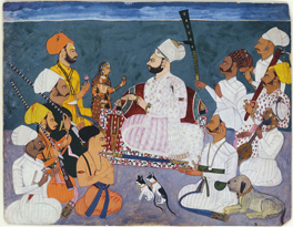 Padam Singh of Ghanerao on a hunting party at Ajmer Ghanerao, Rajasthan, by Manno, 1721 © V&A Images/Victoria and Albert Museum, London
