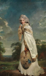 Elizabeth Farren, Later Countess of Derby by Sir Thomas Lawrence, 1790 Lent by The Metropolitan Museum of Art, Bequest of Edward S. Harkness, 1940 (50.135.5)