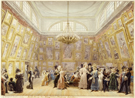 The Royal Academy Exhibition of 1828 by George Scharf, 1828 © Museum of London