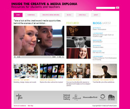 Creative and Media Diploma website