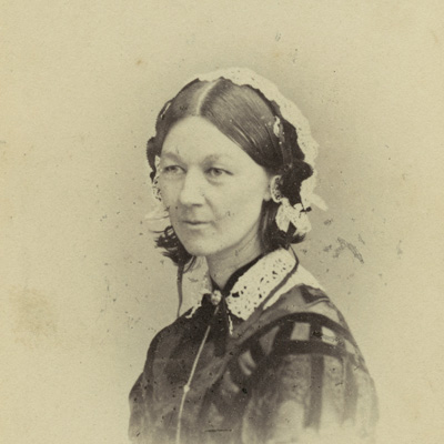 Florence Nightingale by William Edward Kilburn albumen carte-de-visite, (circa 1856) NPG Ax28403