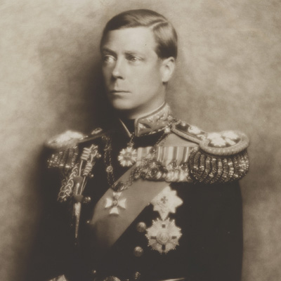 Prince Edward, Duke of Windsor (King Edward VIII)by Hugh Cecil (Hugh Cecil Saunders) sepia bromide print, 1936 NPG P136