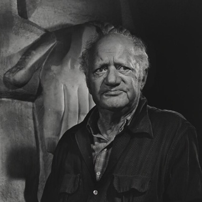 Jacob Epstein by Yousuf Karsh bromide print, 1955 NPG P490(28)