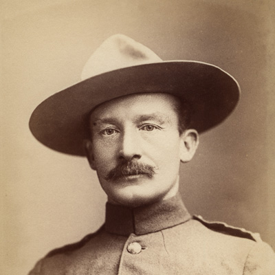 Robert Baden-Powell by Francis Henry Hart, for Elliott & Fry albumen print, 1896 NPG P1700(49a)