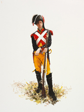 Thomas, Gendarme of the French Imperial Gendarmerie, Napoleonic encampment by Isobel Peachey, 2010 - © Isobel Peachey