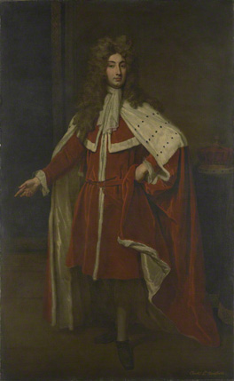Fig.10 Whole-length format. Godfrey Kneller's 2nd Viscount Townshend, 1704?, 94 x 57 3/4 ins (238.7 x 146.7 cm) (National Portrait Gallery).
